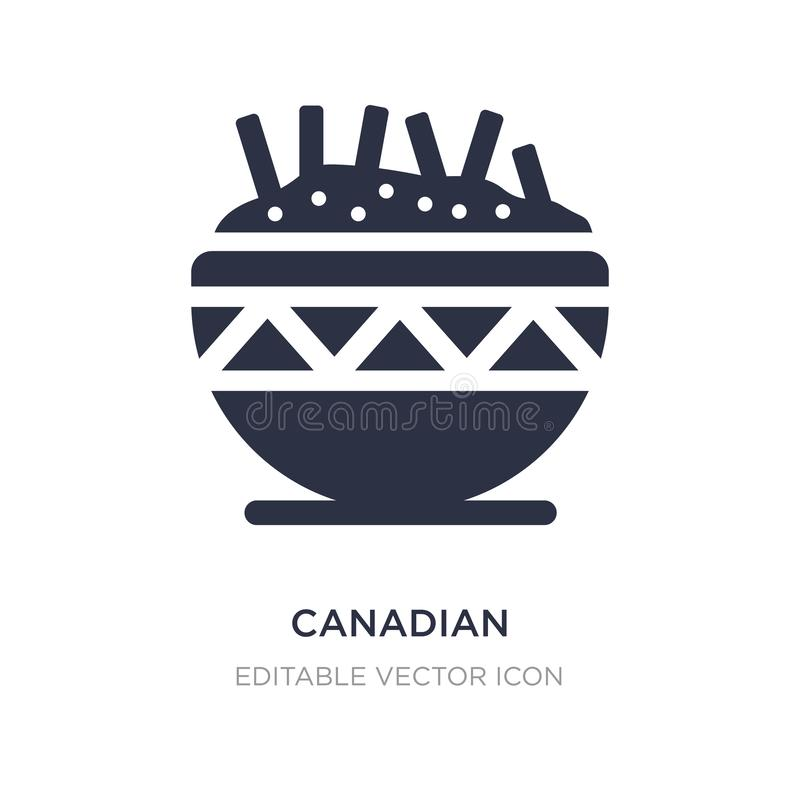Canadian icon on white background. Simple element illustration from Food concept. Canadian icon symbol design royalty free illustration