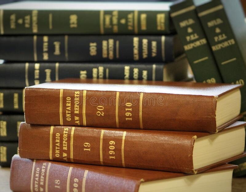 Canadian law books stock images
