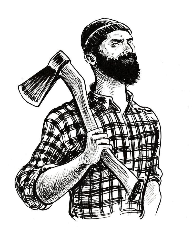 Canadian logger. vector illustration