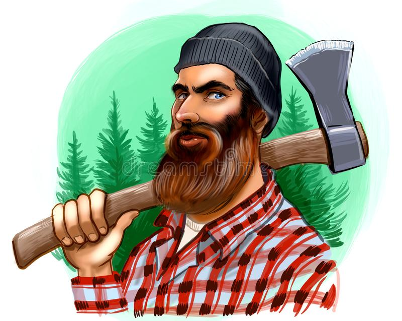 Canadian lumberjack stock illustration