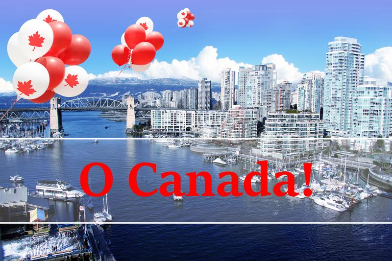 Vancouver Canada day balloons royalty free stock image