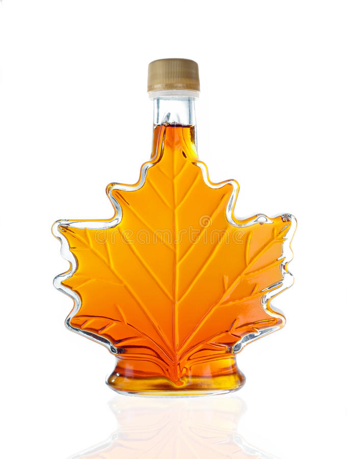 Free Canadian Maple Syrup Bottle Royalty Free Stock Photography - 40861477