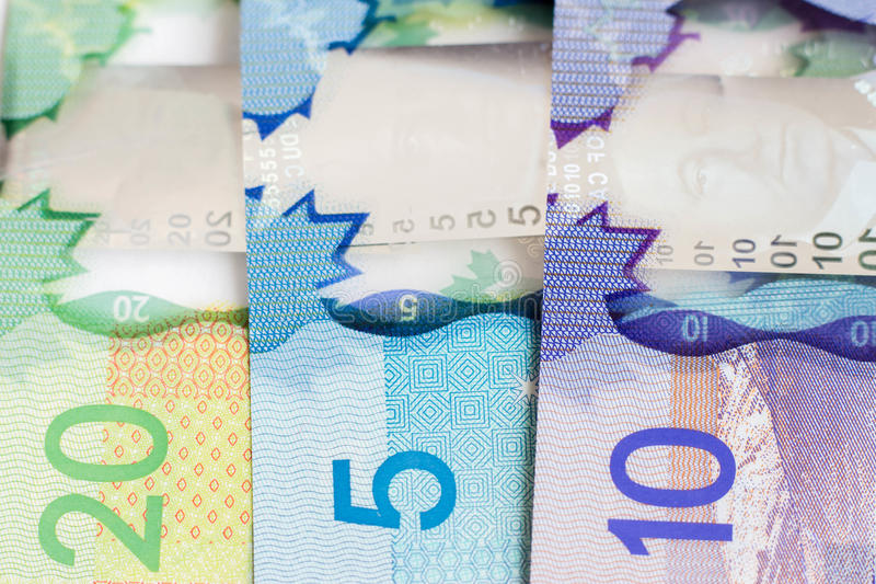 Canadian money royalty free stock photography