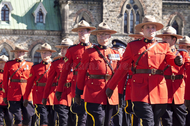 Canadian Mounted Police Officers At Parliament Hil Editorial Stock Photo