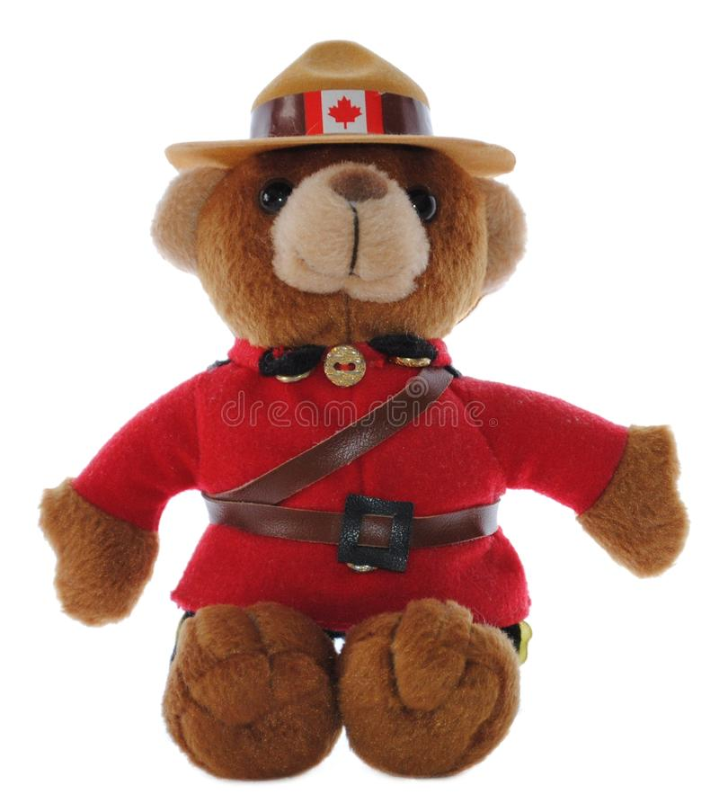 Canadian Mountie Bear royalty free stock photo