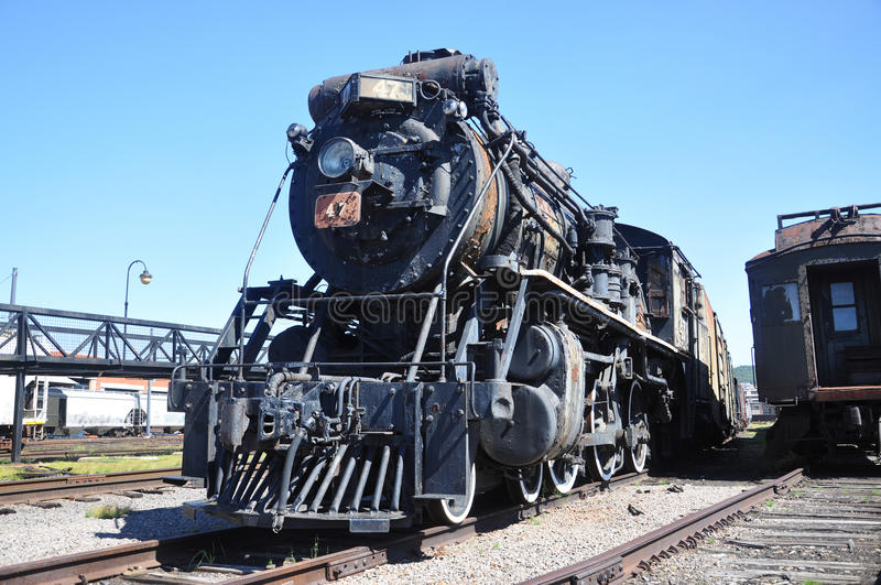 Canadian National Railways Steam locomotive. Steam locomotive Canadian National Railways #47 in Steamtown National Historic Site in Scranton, Pennsylvania, USA royalty free stock photo