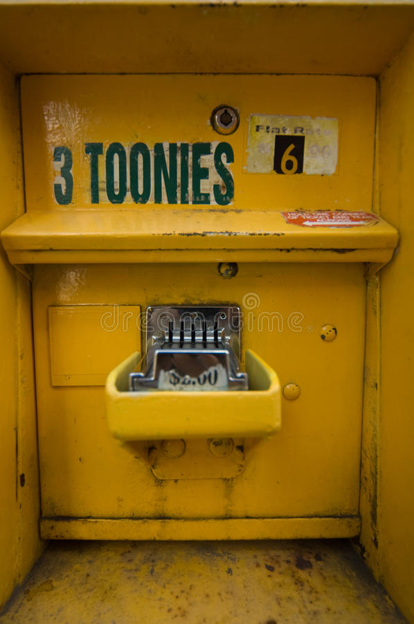 Canadian Parking Fare Box royalty free stock photography