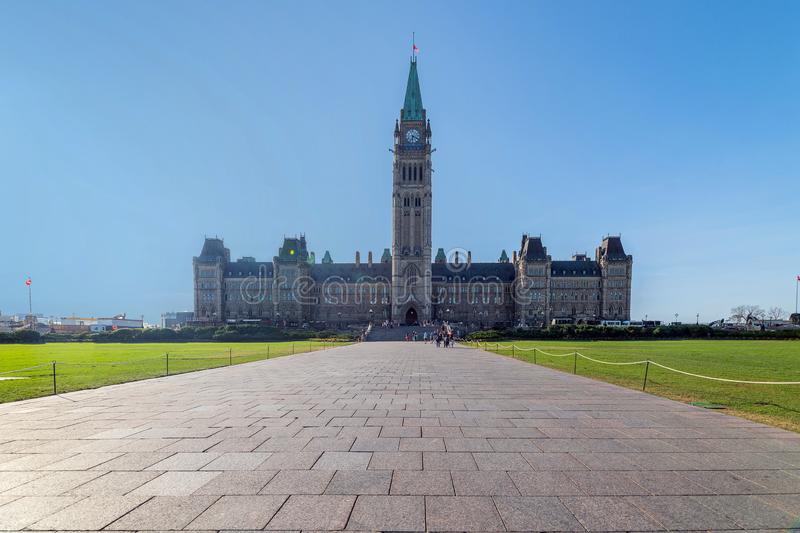 Canadian Parliament building at Parliament Hill in Ottawa, Canada royalty free stock photos