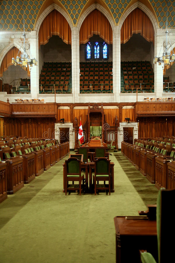 Canadian Parliament Building Interior Editorial Image
