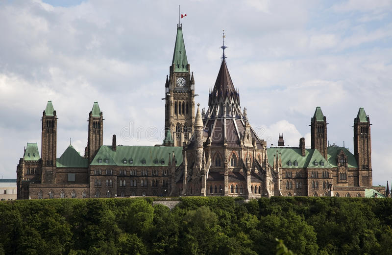 Canadian Parliament in Ottawa royalty free stock photos