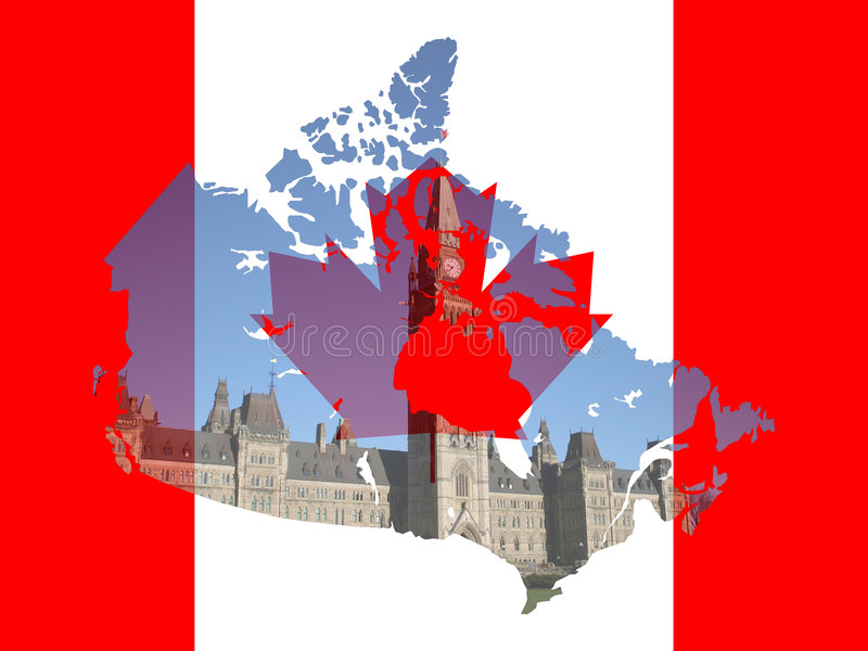 Canadian Parliament Ottawa stock illustration