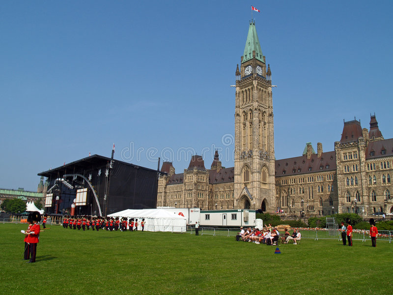 Canadian parliament in Ottawa stock photo