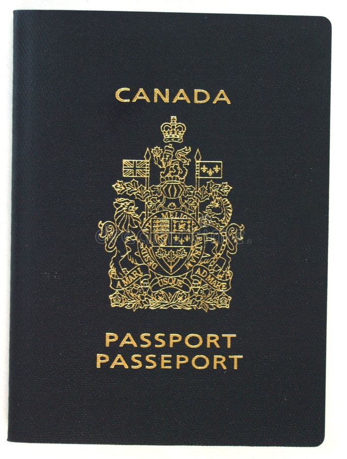 Canadian passport royalty free stock photography