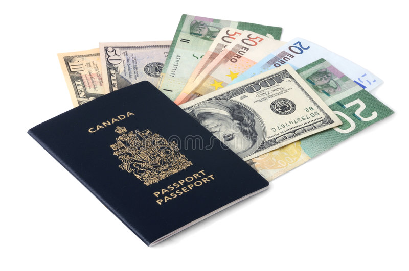 Download Canadian Passport And Paper Money Stock Images - Image: 9354724