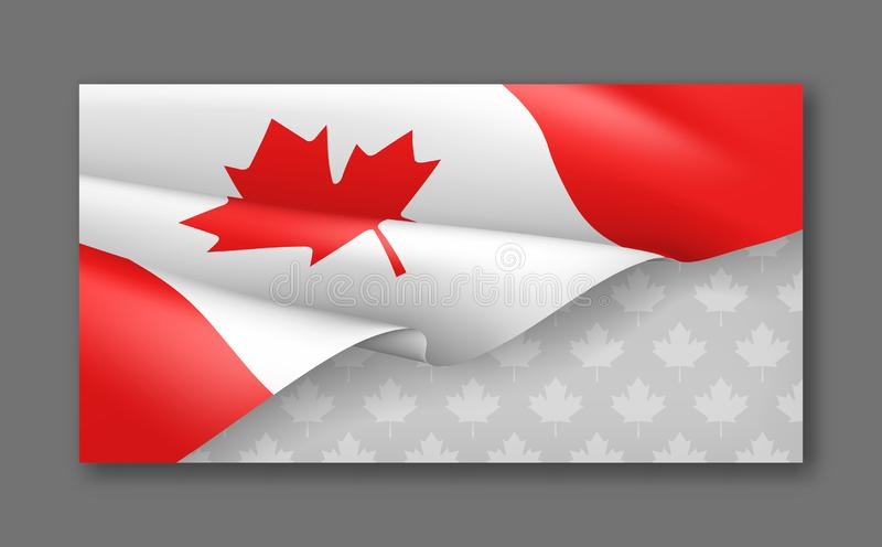 Canadian patriotic background with national colors royalty free illustration