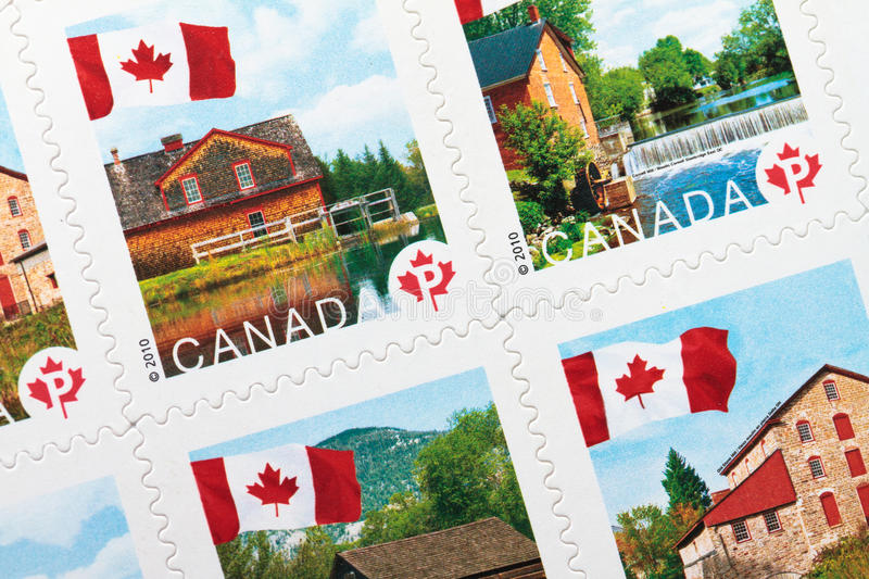 Download Canadian Postage Stamps Editorial Stock Image - Image: 17785934