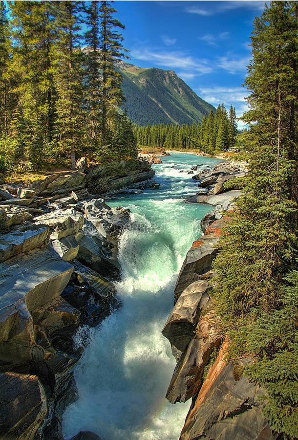 Canadian Rapids stock image