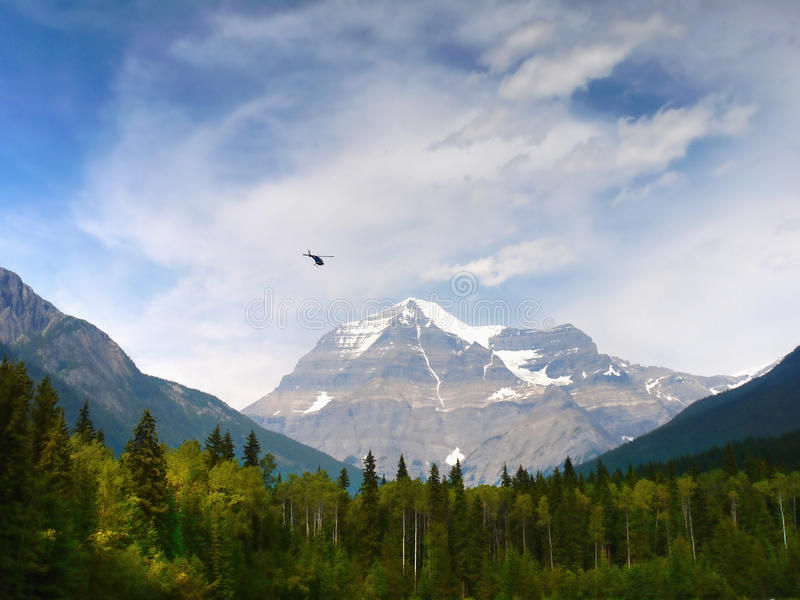 Canadian Rocky Mountain Parks, Mount Robson. Mount Robson (3.954m) view. Canadian Rocky Mountain Parks. British Columbia Canada royalty free stock photography