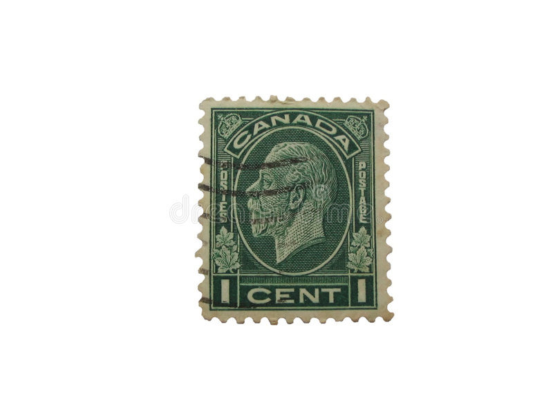 Download Canadian stamp isolated stock photo. Image of cent, postage - 199452