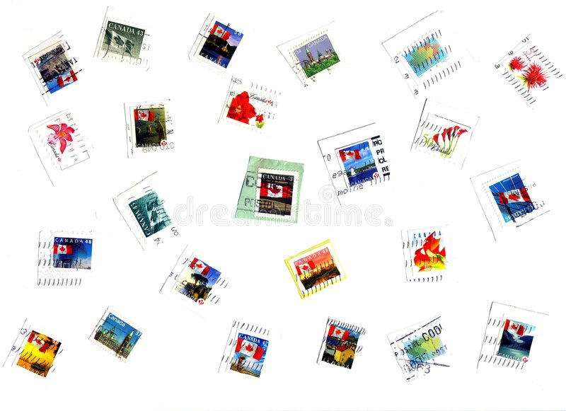 Download Canadian stamps stock illustration. Image of business - 7937512