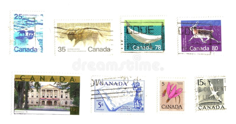 Download Canadian stamps stock illustration. Image of colonialism - 8804409