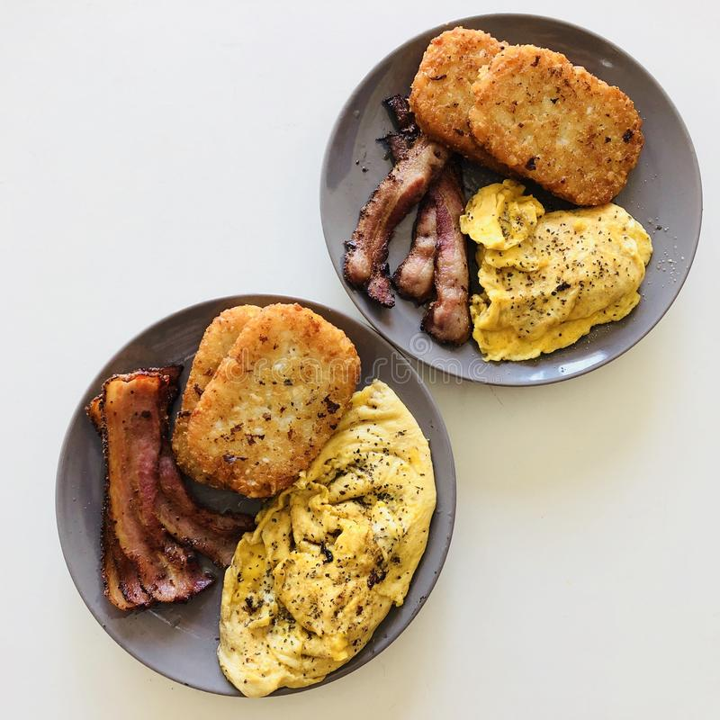 Canadian big Breakfast for two stock image