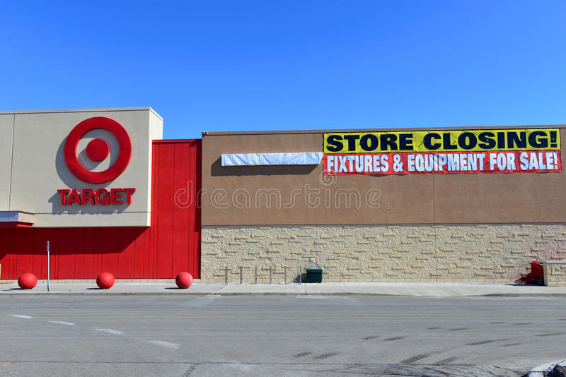 Canadian Target store with closing sign royalty free stock photos