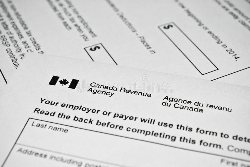 Canadian Tax Form. Stock Photo - Image: 48808520