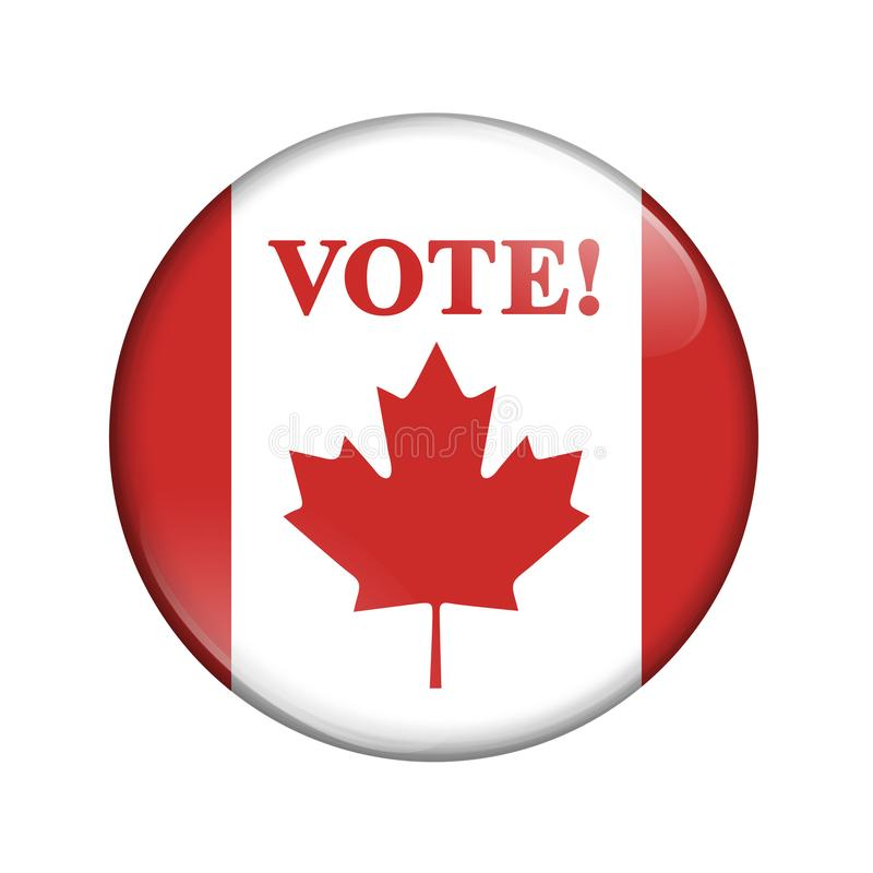 Canadian vote flag badge button stock images