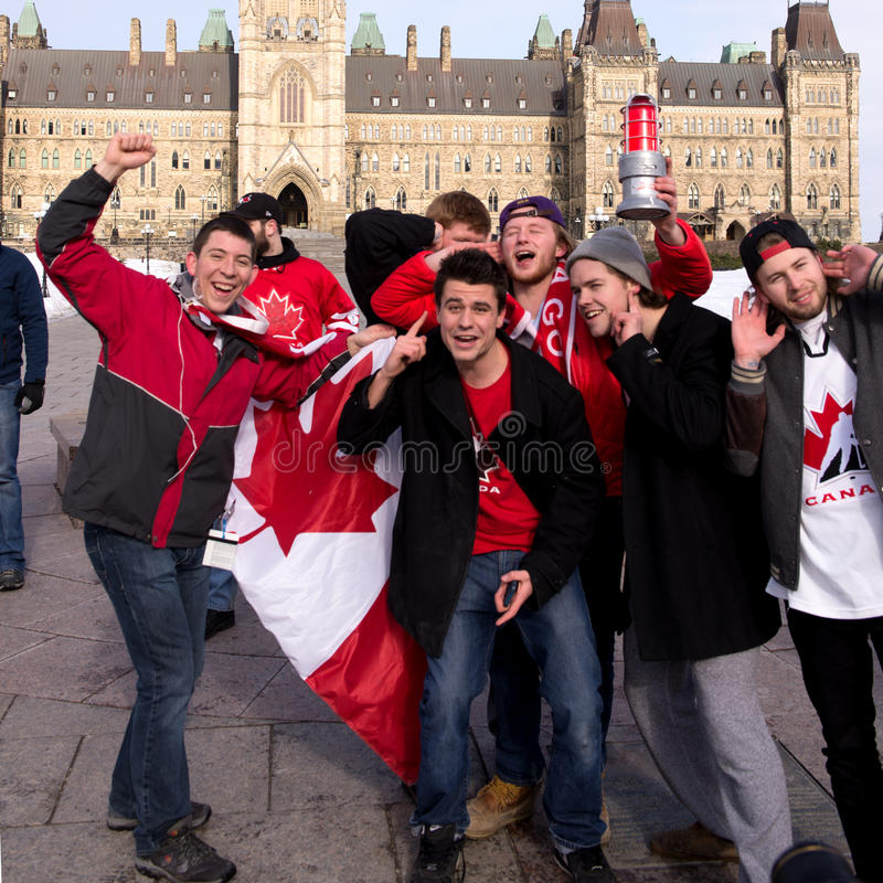 Canadians celebrate hockey gold