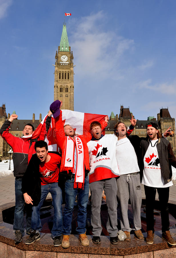 Download Canadians Celebrate Hockey Gold Editorial Photography - Image: 38170222