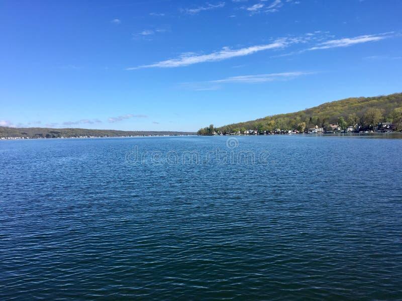 Canadice jezioro, jeden Nowi Jork Palcowi jeziora zdjęcia royalty free