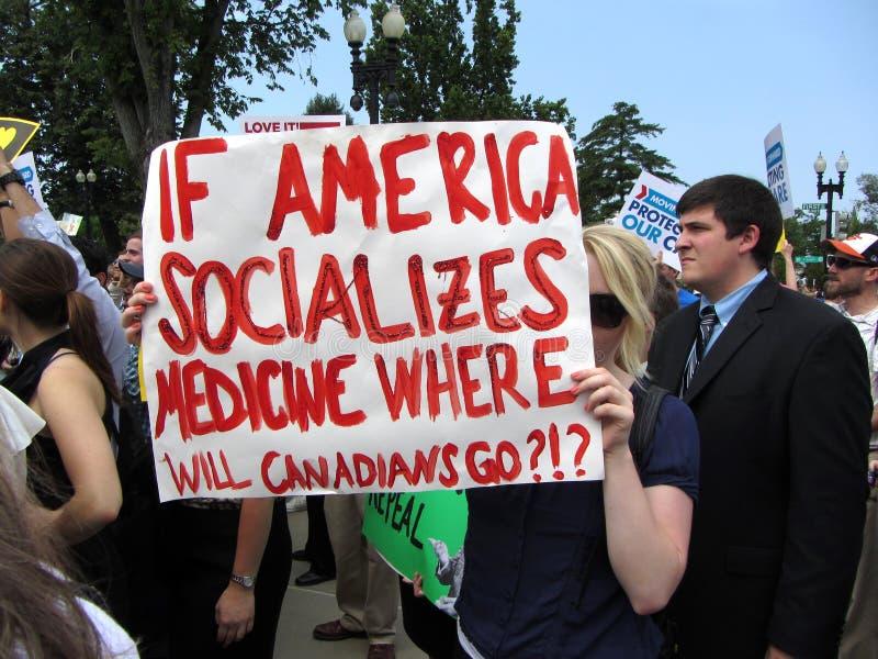 Canadien contre Obamacare image stock