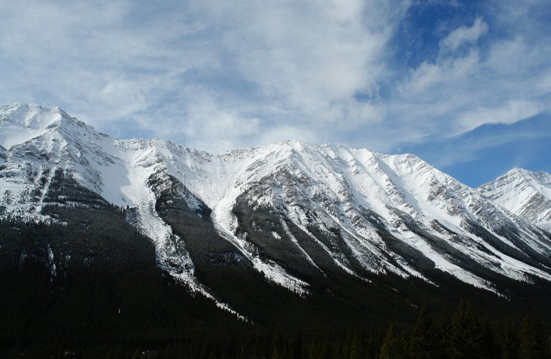 Canadiense rockies del invierno fotos de archivo libres de regalías