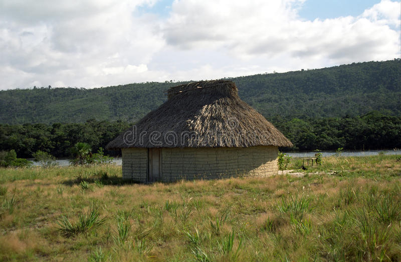 canaima房子印第安n p pemon委内瑞拉 库存照片