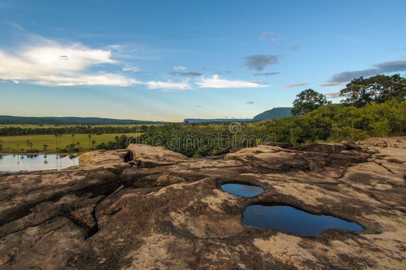 Canaima Nationaal Park, Venezuela stock fotografie