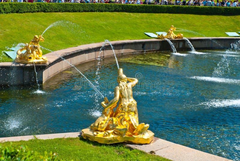 Canais da água de Petergof imagem de stock royalty free