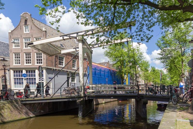 Canais de Amsterdão, capital dos Países Baixos fotografia de stock royalty free