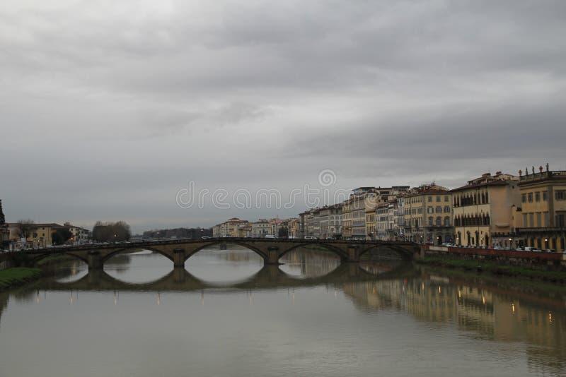 Canais de Florença foto de stock