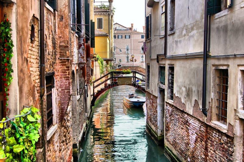 Canais de Veneza fotos de stock royalty free