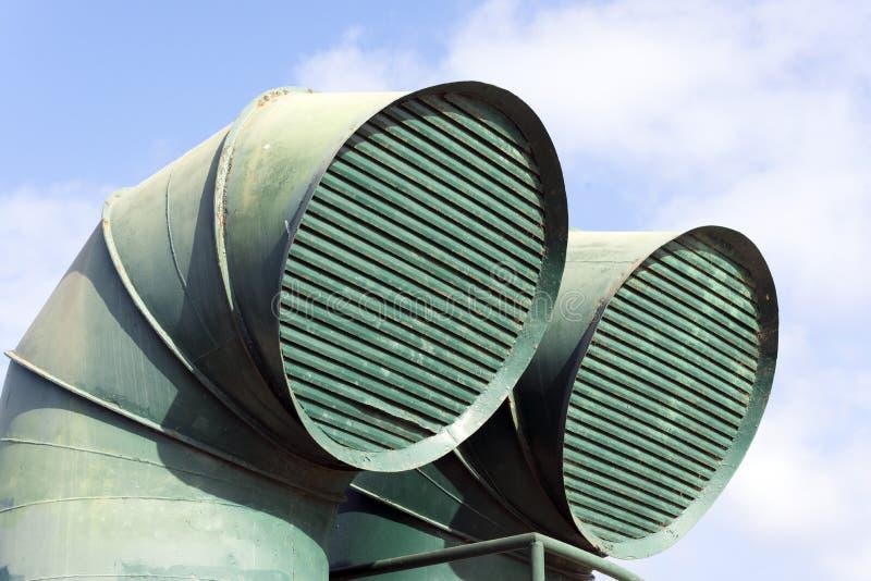 Canais de ventilação em um barco fotos de stock