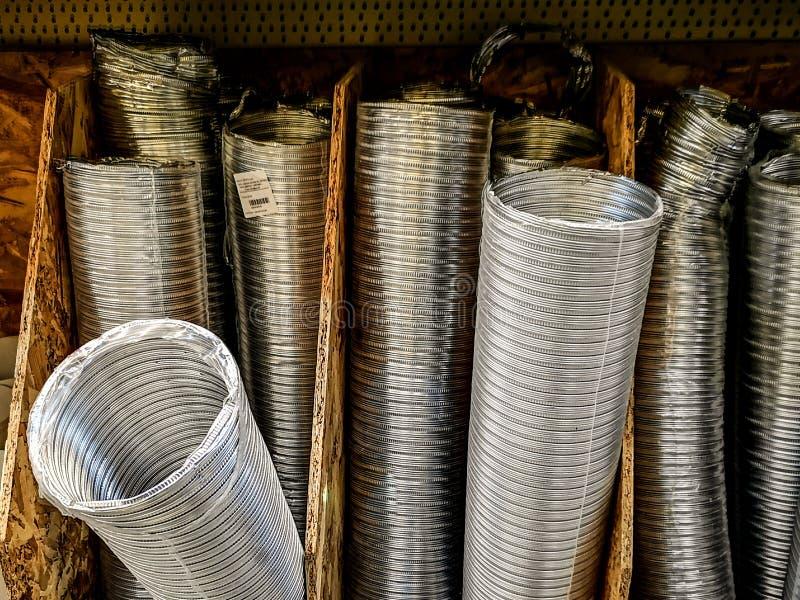 Canais de ventilação metálicos imagem de stock royalty free