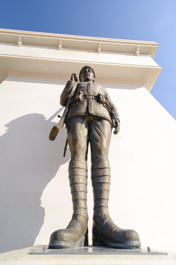Canakkale受难者纪念品是纪念参与在大约253,000位土耳其战士的服务战争纪念建筑 库存图片
