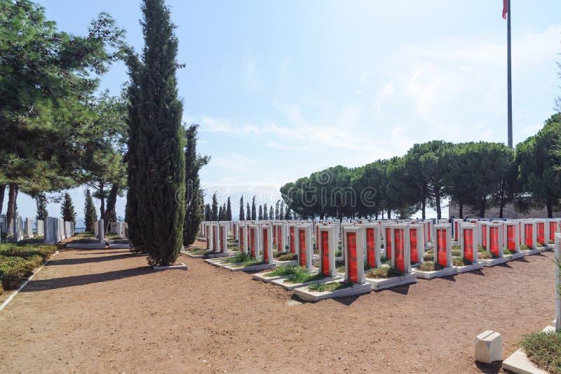 CANAKKALE, DIE TÜRKEI 12. SEPTEMBER 2016: Das Canakkale-Märtyrer-Denkmal ist ein Kriegsdenkmal, das ungefähr Service des verkauft lizenzfreie stockfotografie