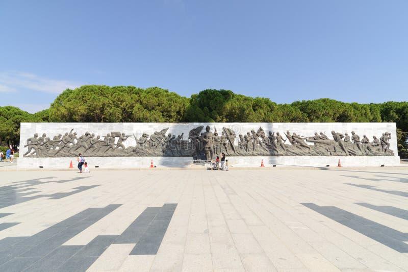 CANAKKALE, DIE TÜRKEI 12. SEPTEMBER 2016: Das Canakkale-Märtyrer-Denkmal ist ein Kriegsdenkmal, das ungefähr Service des verkauft lizenzfreies stockfoto