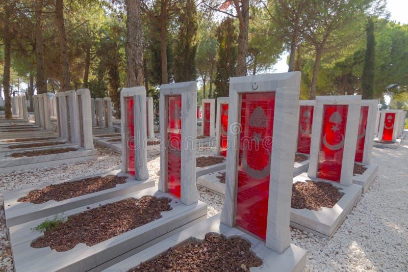 Canakkale martert Erinnerungsmilitärfriedhof stockbild