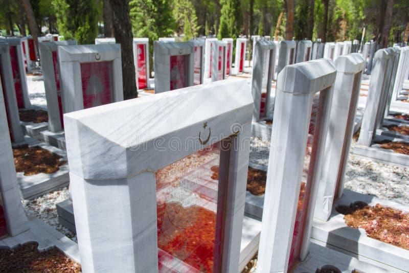 Canakkale martert Erinnerungsmilitärfriedhof stockfoto