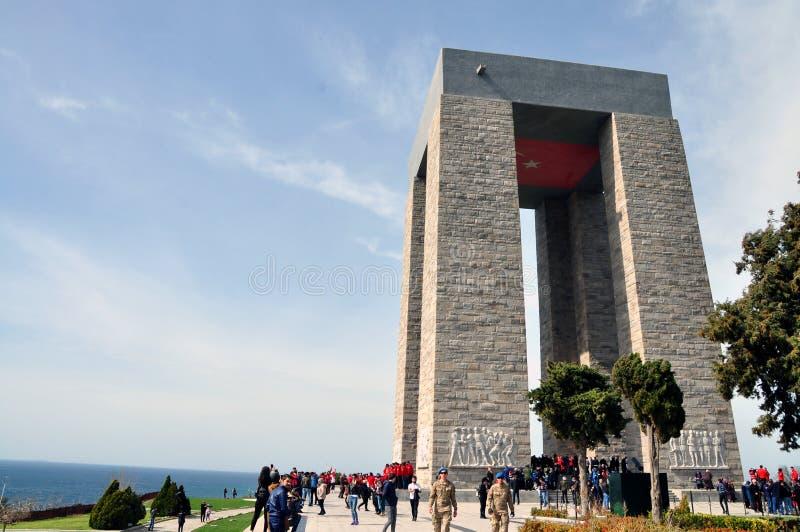 Canakkale Martyrs Denkmal lizenzfreie stockfotos