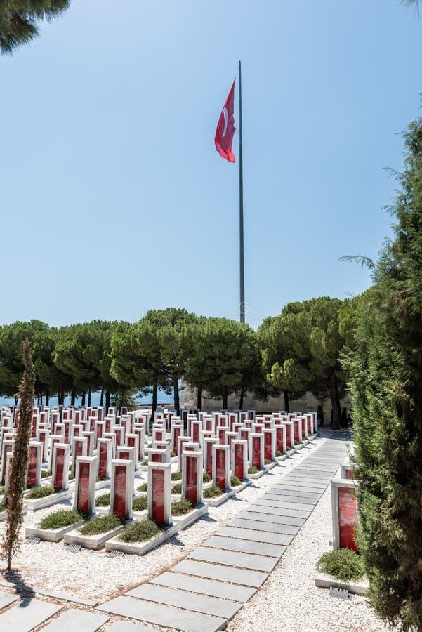 Canakkale Martyrs le cimetière militaire commémoratif dans Canakkale photo libre de droits