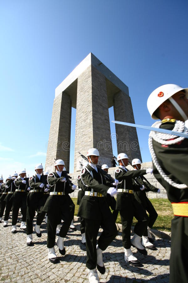 Canakkale Martyrs le mémorial image stock